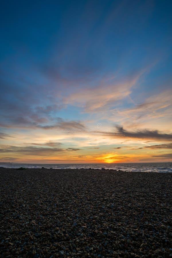 Retrato de la salida del sol de Brighton imagen de archivo
