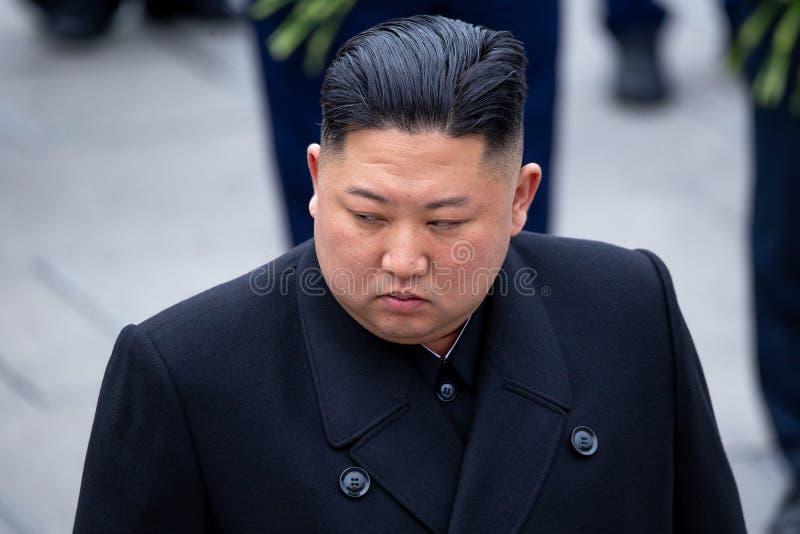 Retrato de la secretaria General del DPRK Corea del Norte Kim Jong Un imagen de archivo