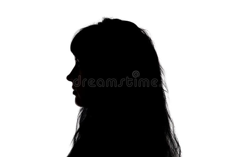 Imagen De Una Silueta De Una Mujer Para Colorear: Retrato De La Silueta De La Mujer En Perfil Foto De