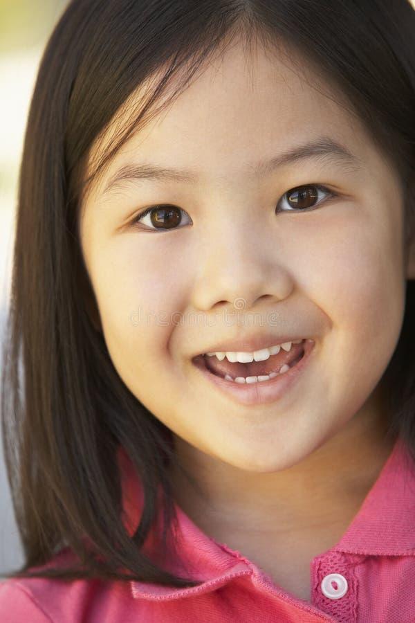 Retrato de la sonrisa de la muchacha imagen de archivo
