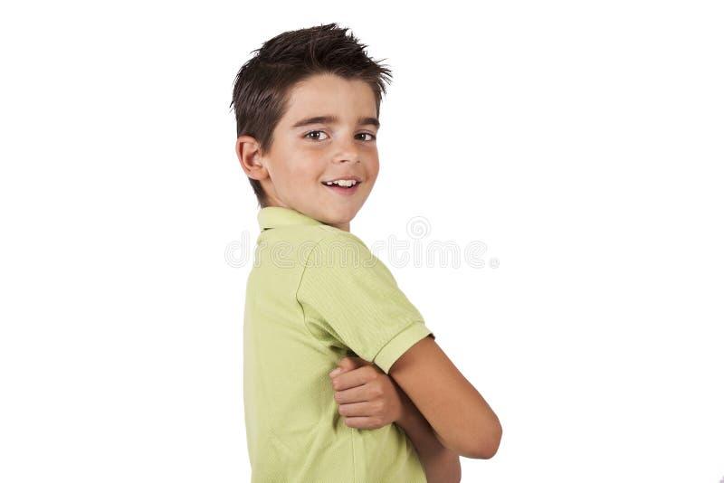 Retrato de la sonrisa del muchacho fotografía de archivo