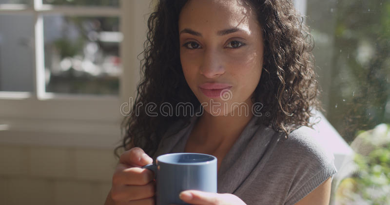 Retrato de la sonrisa hispánica joven linda de la mujer foto de archivo libre de regalías