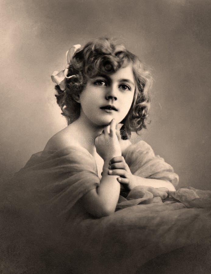 Retrato de la vendimia. imagenes de archivo