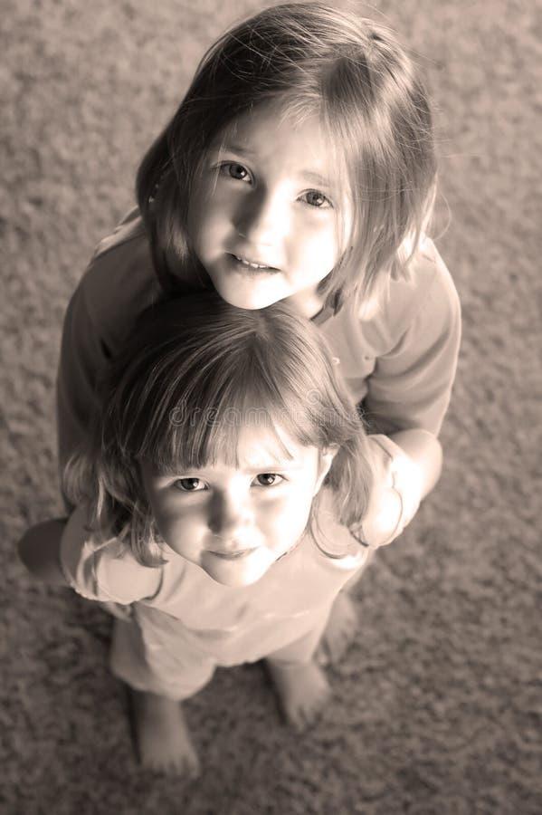Retrato de las niñas fotos de archivo