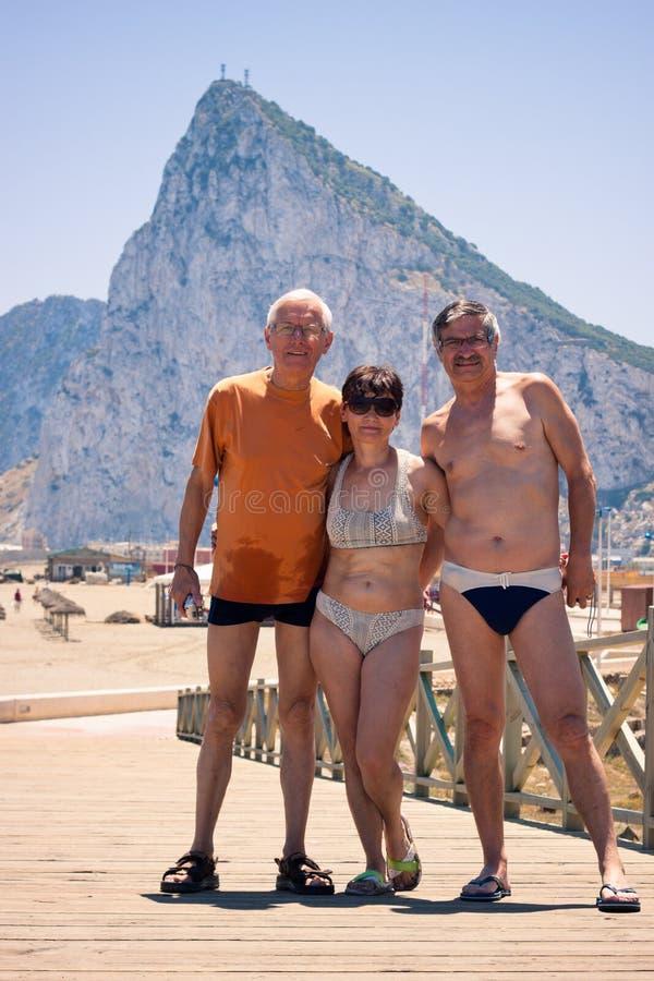 Retrato de las vacaciones de verano fotos de archivo