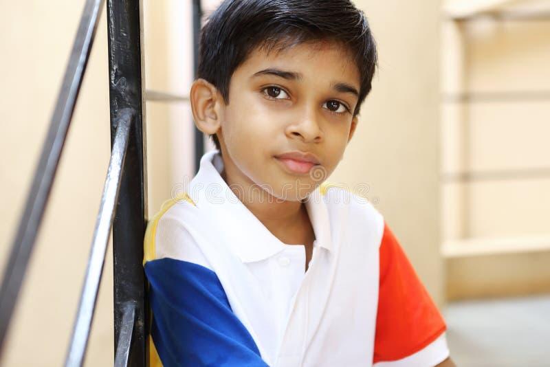 Retrato de Little Boy indiano imagem de stock royalty free