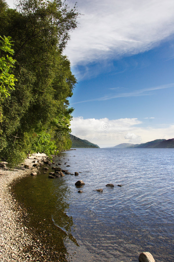 Retrato de Loch Ness imagens de stock royalty free