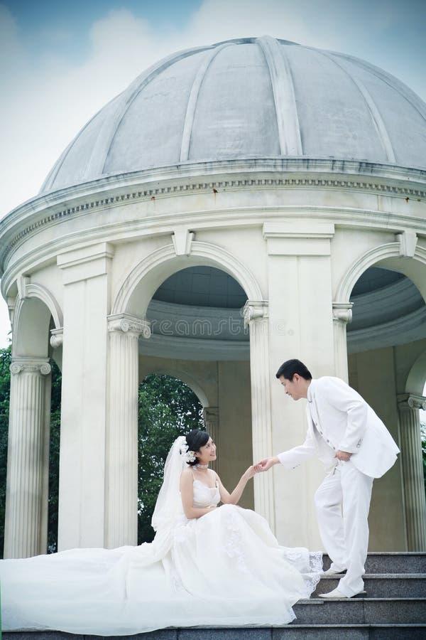 retrato de los pares de la boda imagenes de archivo