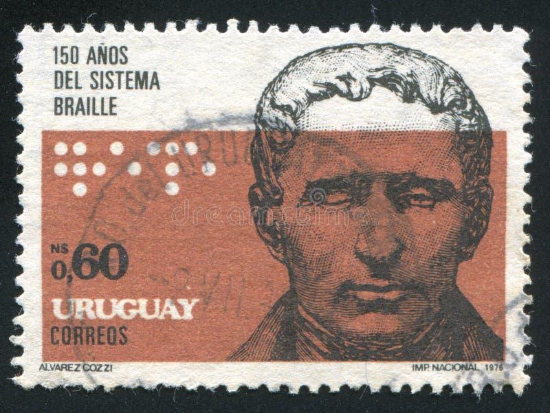 Retrato de Louis Braille fotografía de archivo libre de regalías