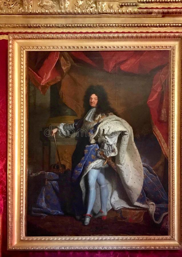 Retrato de Louis XIV fotografia de stock royalty free