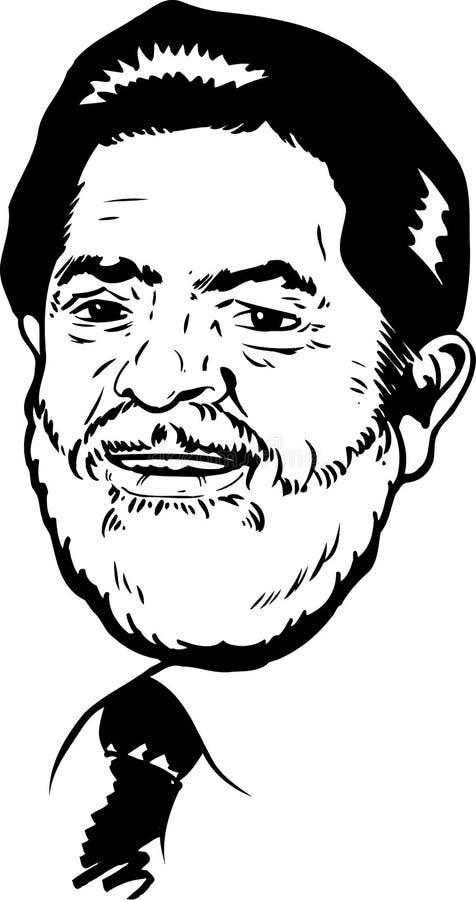 Retrato de Luiz Inacio Lula da Silva libre illustration