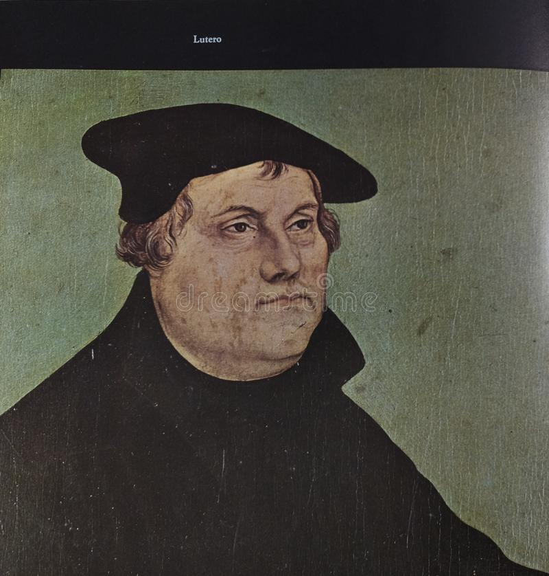 Retrato de Martin Luther foto de stock royalty free