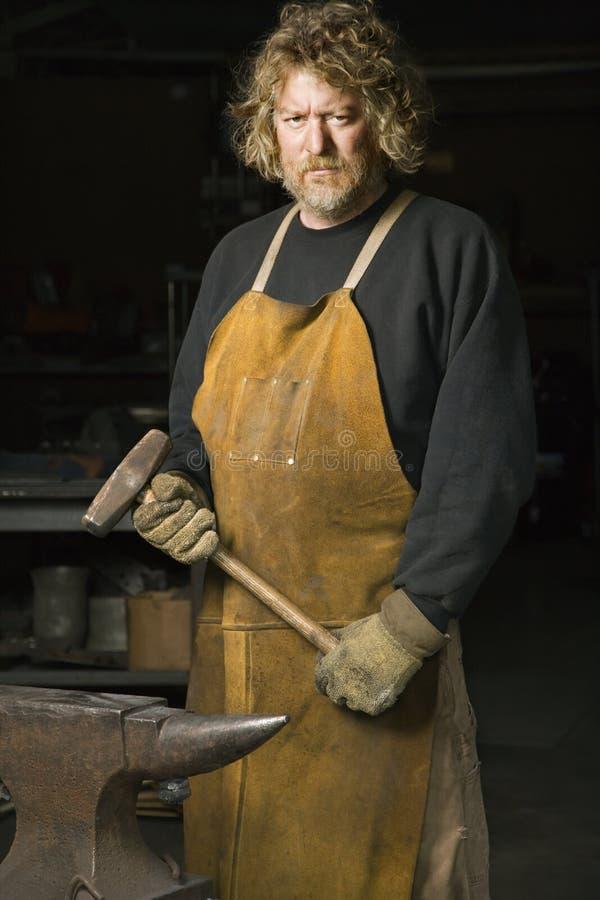 Retrato de Metalsmith. fotos de archivo libres de regalías