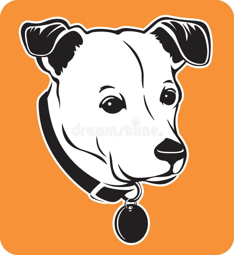 Retrato de meu cão ilustração royalty free