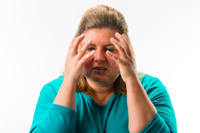 Retrato de mulher frustrante foto de stock royalty free