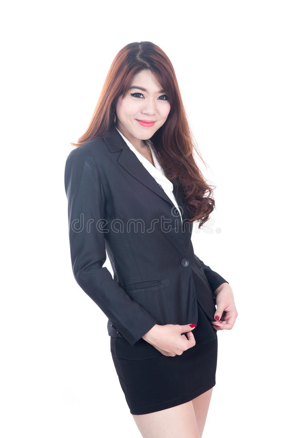 Retrato de mulheres de negócio novas felizes foto de stock royalty free