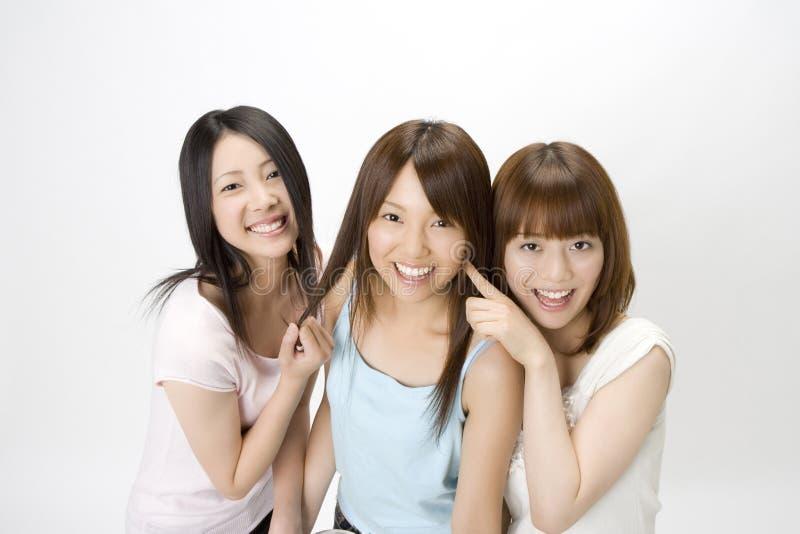 Retrato de mulheres japonesas imagem de stock royalty free
