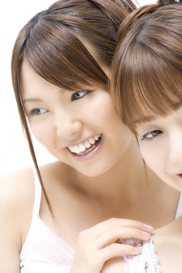 Retrato de mulheres japonesas fotografia de stock royalty free