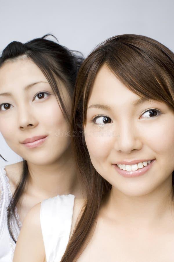 Retrato de mulheres japonesas imagens de stock