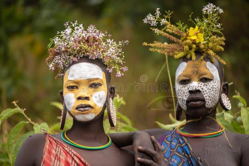 Retrato de mulheres não identificadas de Surmi fotografia de stock royalty free