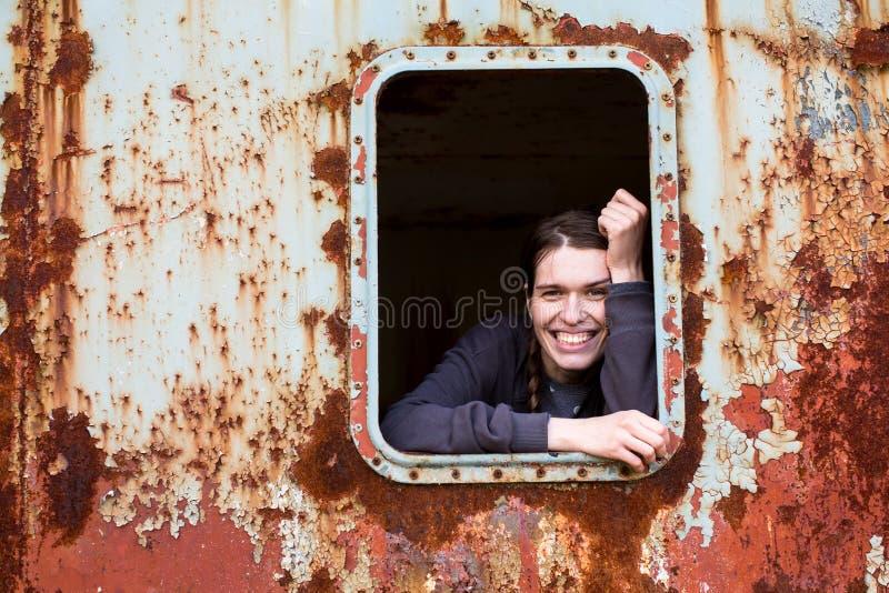 Retrato de mulheres positivas novas felicidade fotografia de stock royalty free