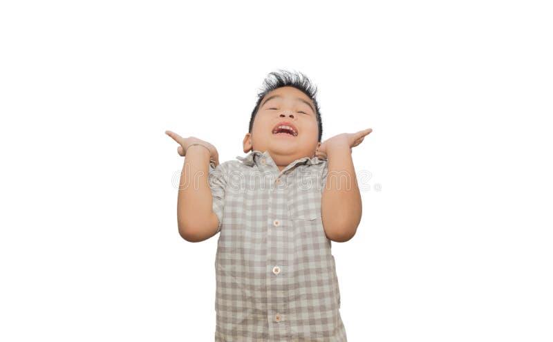 Retrato de niños felices en el fondo blanco imagen de archivo