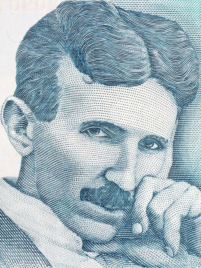 Retrato de Nikola Tesla imágenes de archivo libres de regalías