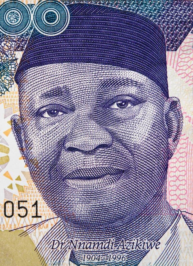 Retrato de Nnamdi Azikiwe no Nigerian cl 2016 da cédula de 500 nairas fotos de stock