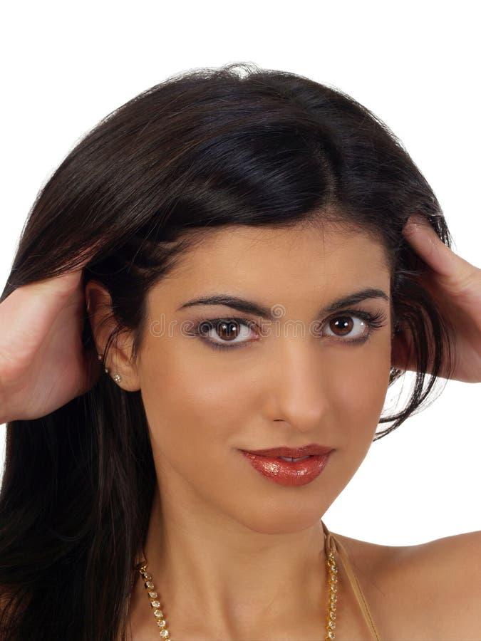 Retrato de Oriente Medio joven de la mujer imágenes de archivo libres de regalías