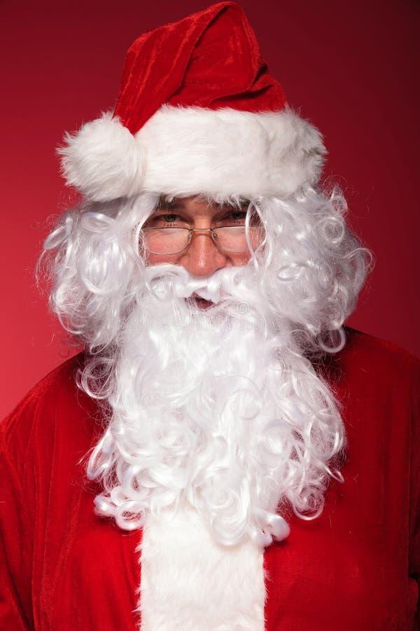 Retrato de Papá Noel sonriente imagenes de archivo