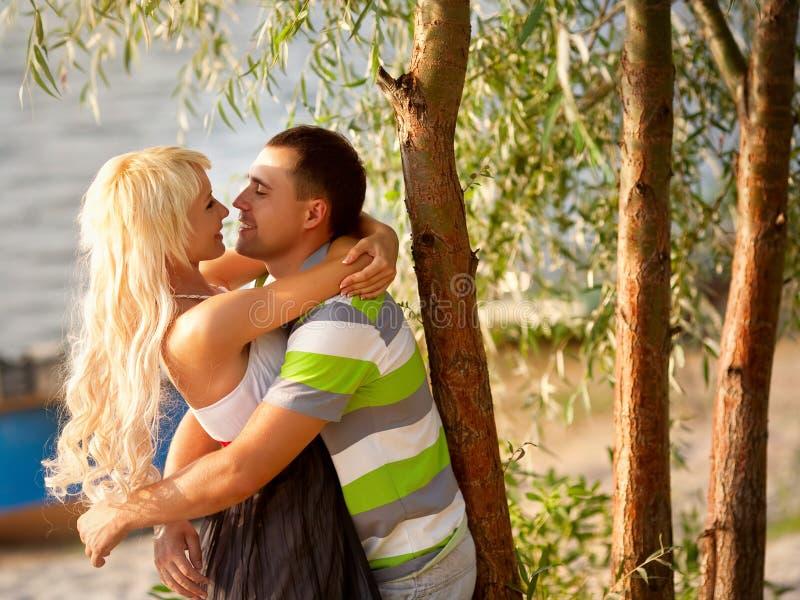 Retrato de pares do amor imagem de stock