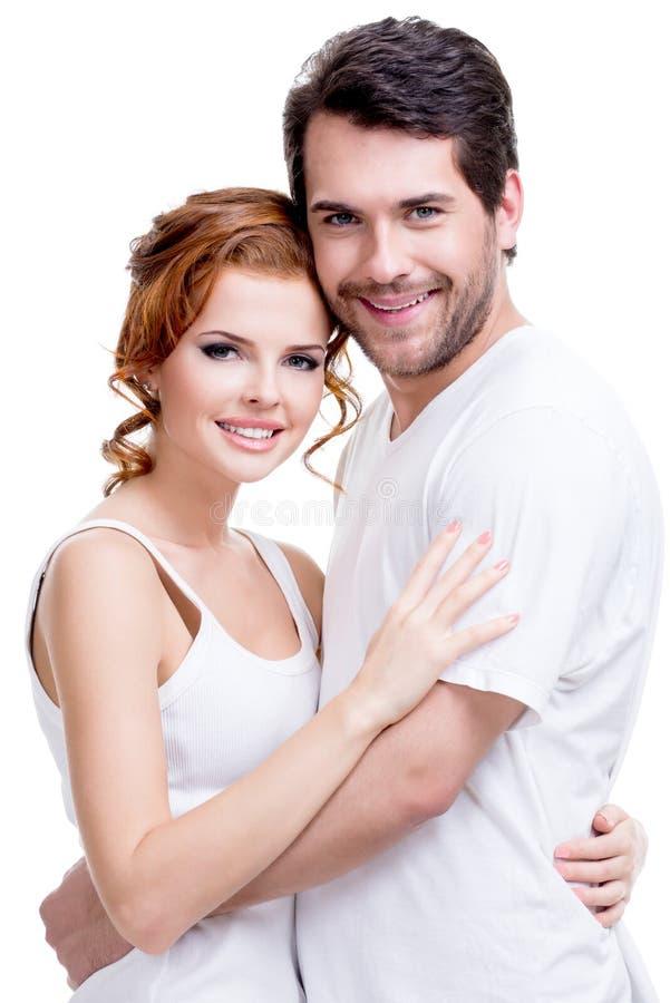 Retrato de pares felices atractivos hermosos fotografía de archivo