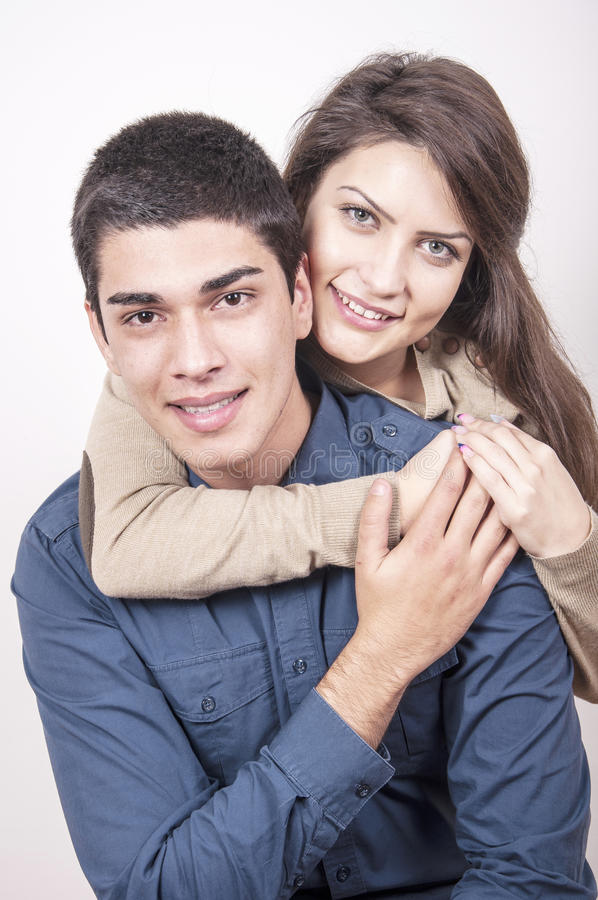 Retrato de pares felices jovenes fotografía de archivo libre de regalías