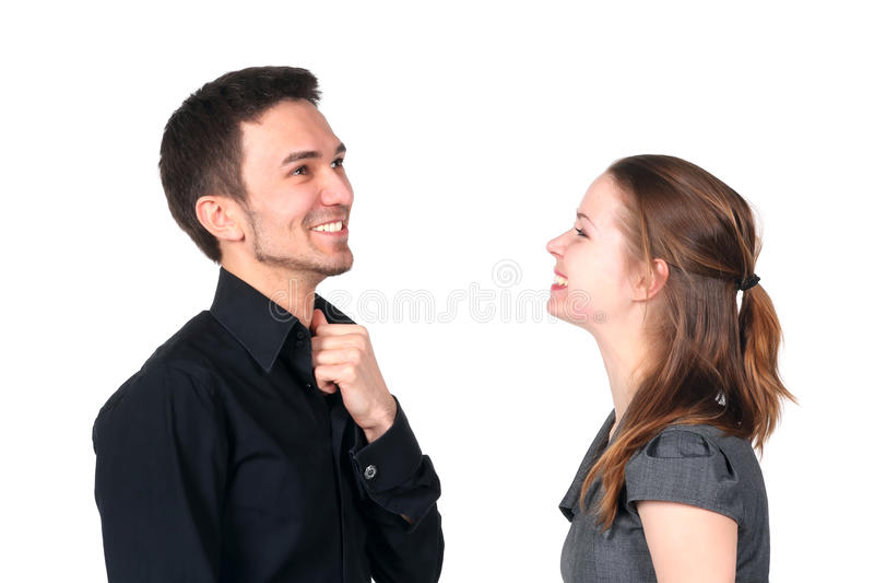 Retrato de pares felizes foto de stock royalty free