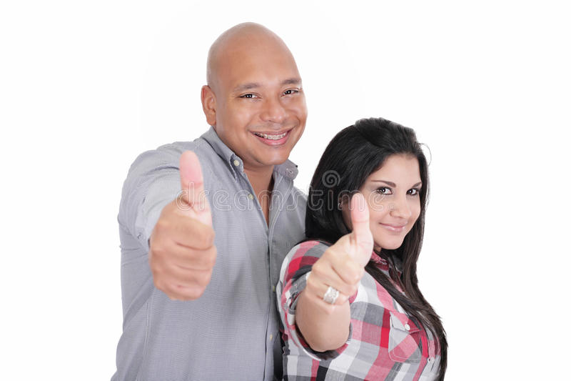 Retrato de pares felizes foto de stock