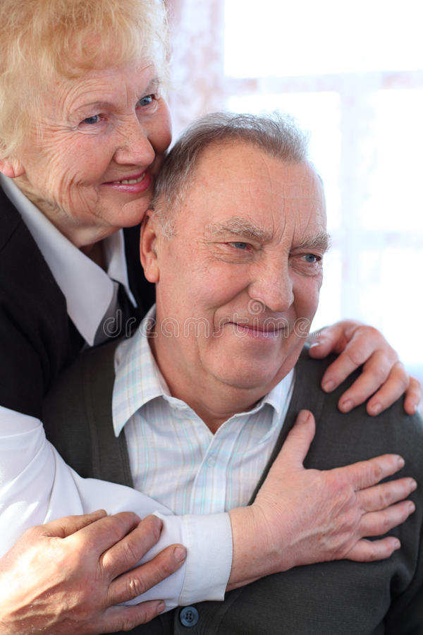 Retrato de pares idosos fotografia de stock royalty free