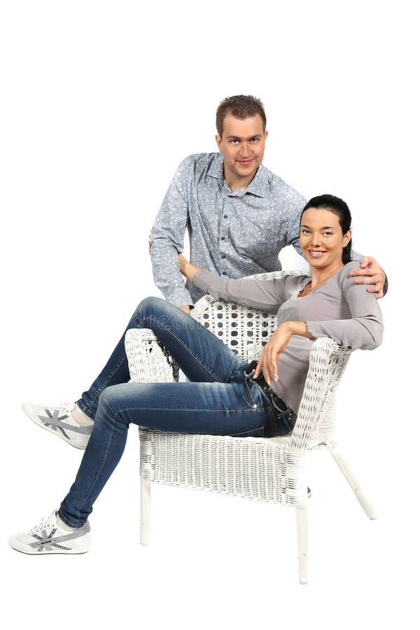 Retrato de pares loving novos felizes imagem de stock royalty free