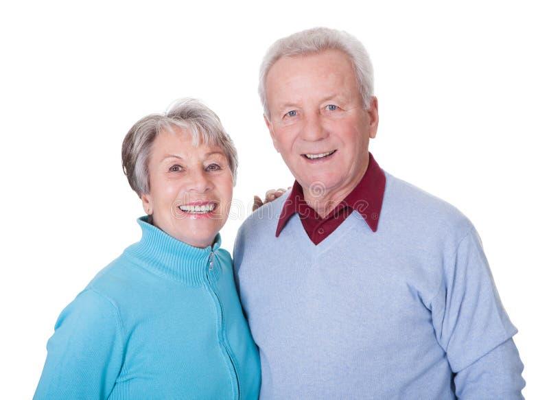 Retrato de pares mayores felices fotos de archivo libres de regalías