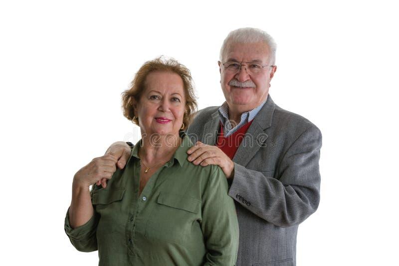 Retrato de pares mayores sonrientes fotos de archivo