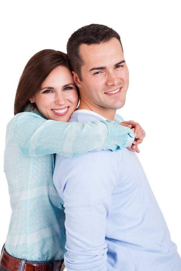 Retrato de pares novos bonitos imagens de stock royalty free