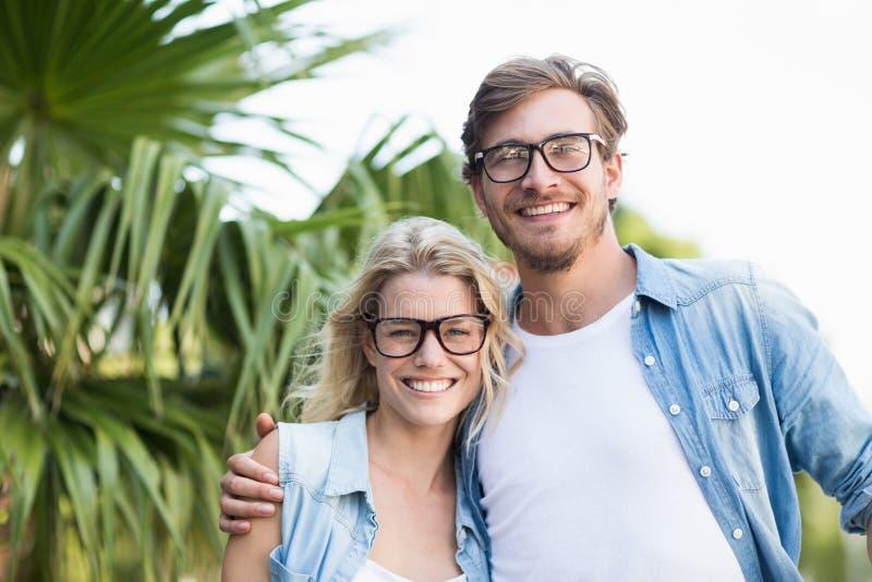 Retrato de pares novos felizes imagens de stock royalty free