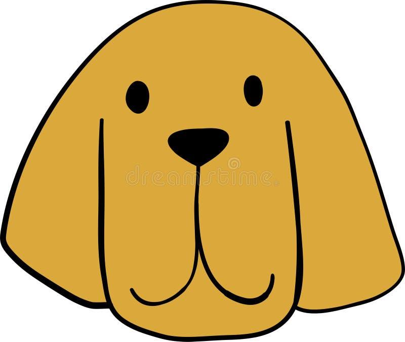 Retrato de pequeño Bloodhoundl lindo Amigo del perro Aislado en el fondo blanco ilustración del vector