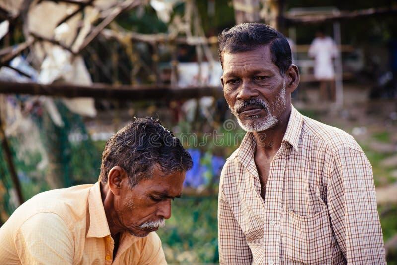 Retrato de pescadores indios imagenes de archivo