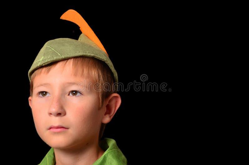 Retrato de Peter Pan fotografia de stock