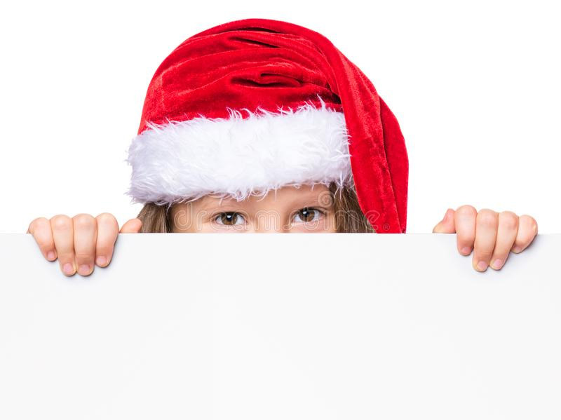 Retrato de pouca menina do Natal imagens de stock