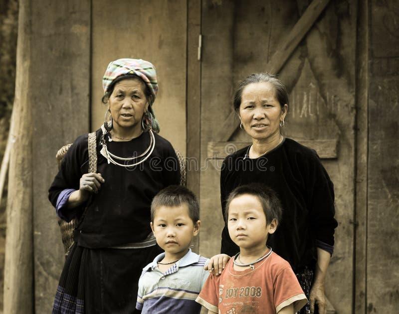 Retrato de povos de Hmong em Vietname imagens de stock