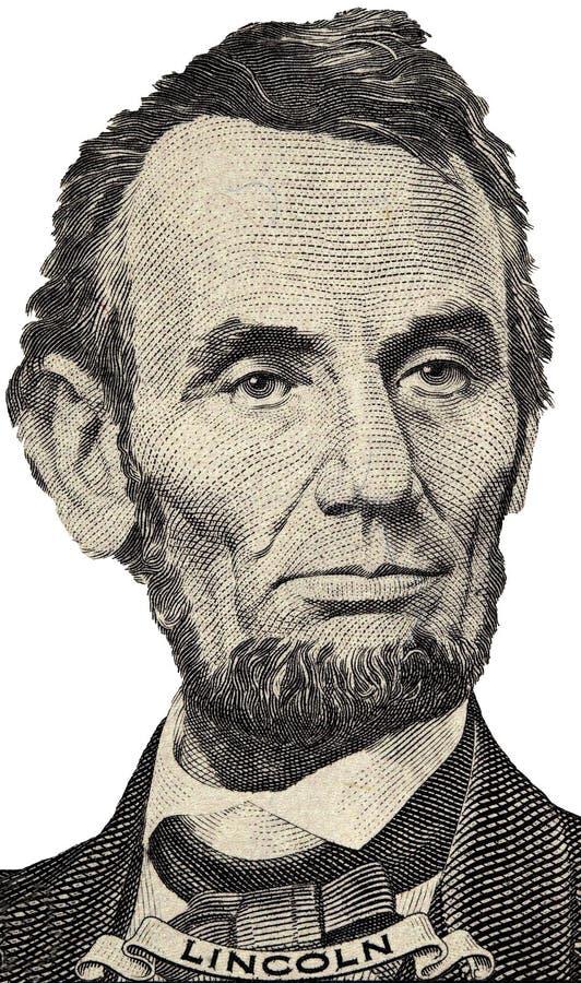 Retrato de presidente Lincoln fotografía de archivo