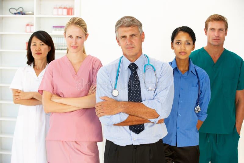 Retrato de profissionais médicos fotografia de stock