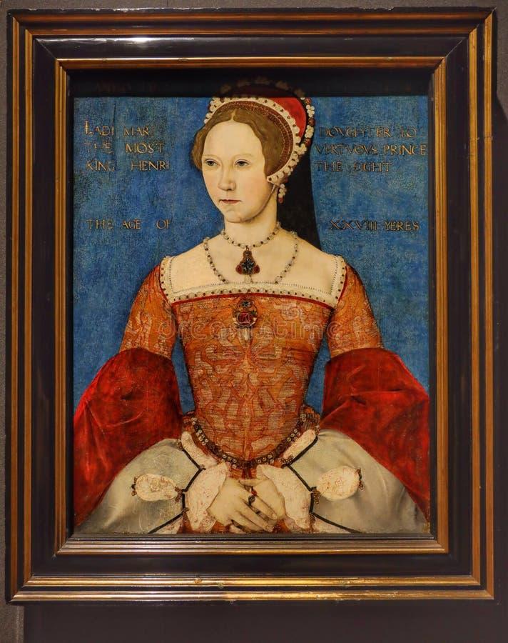 Retrato de Queen Mary I fotografía de archivo libre de regalías