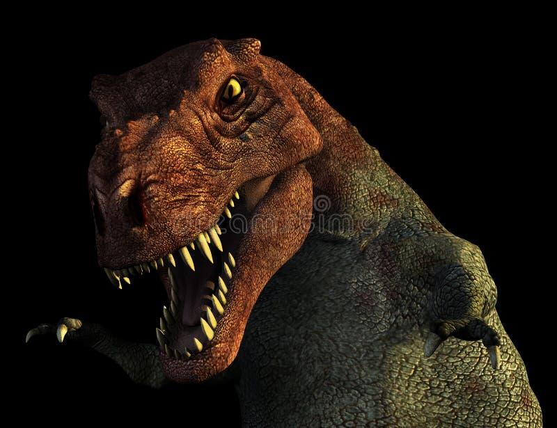 Retrato de Rex do Tyrannosaurus ilustração stock